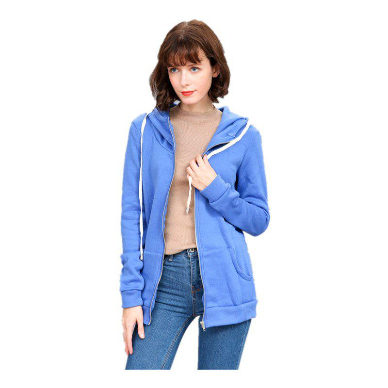 Shop Women's Solid Color All Match Slim Hoodie