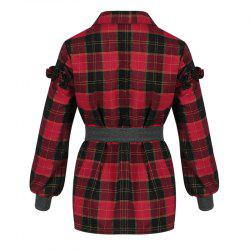 Women's Shirt Turn Down Collar Long Sleeve Plaid Pattern Casual Top -