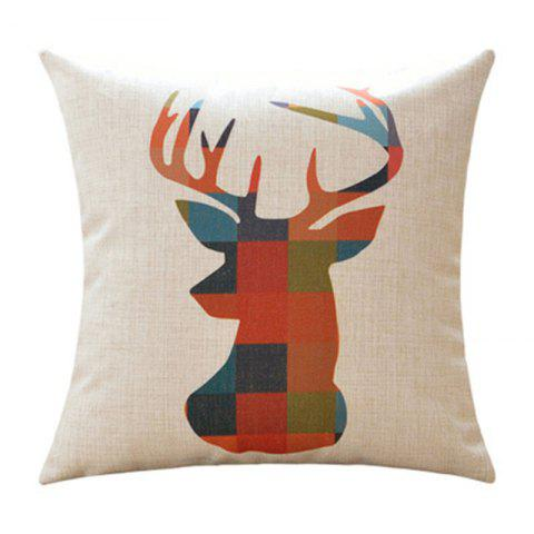 Colorful Pattern of Elephant Deer and Bear Pillow Case for Bar Decoration