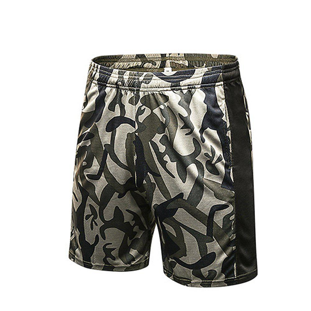 e9e460f13e Shops Men Printed Fitness Running Sport Loose Elastic Breathable Quick-Dry  Shorts