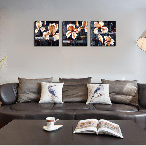 Fashion QiaoJiaHuaYuan No Frame Canvas Living Room Sofa Background Triplet Picture Abstract Flower