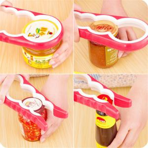 Multifunctional Four in One Bottle Opener Bottle Opener Screw Slip Kitchen -