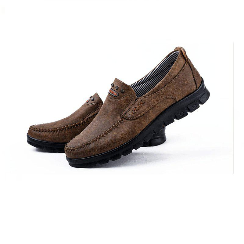 3710a2ab7fcef Fashion Men's Winter Leather Casual Shoes Breathable Antiskid Loafers  Moccasins
