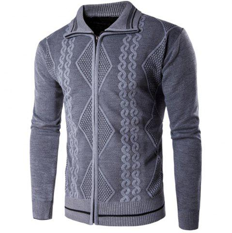 Store 2018 Spring and Autumn  Slim Lapel  Leisure Sports Cardigan