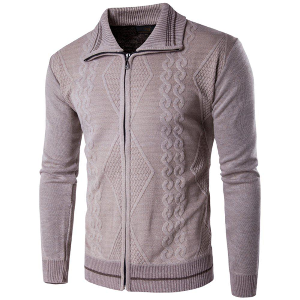 Latest 2018 Spring and Autumn  Slim Lapel  Leisure Sports Cardigan