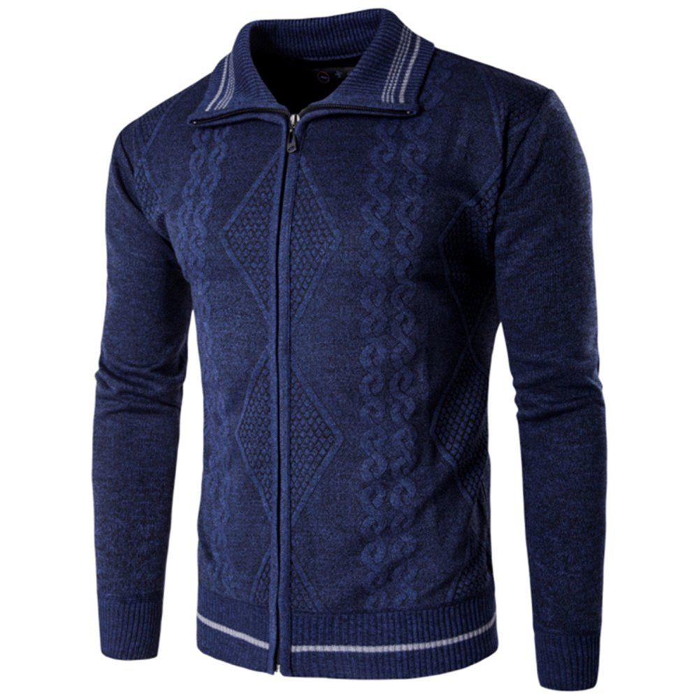New 2018 Spring and Autumn  Slim Lapel  Leisure Sports Cardigan