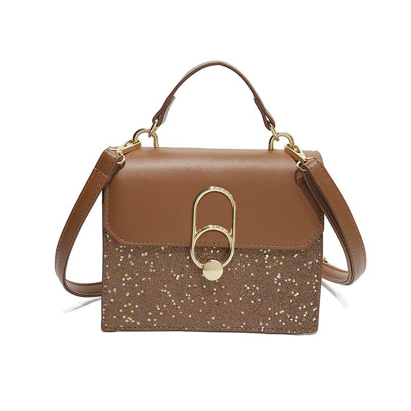 Unique Personalized Fashion Sequined Small Square Shoulder Bag Diagonal Package
