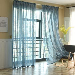 Embroidery Ingot Flowers Thin Section Screens Curtains -