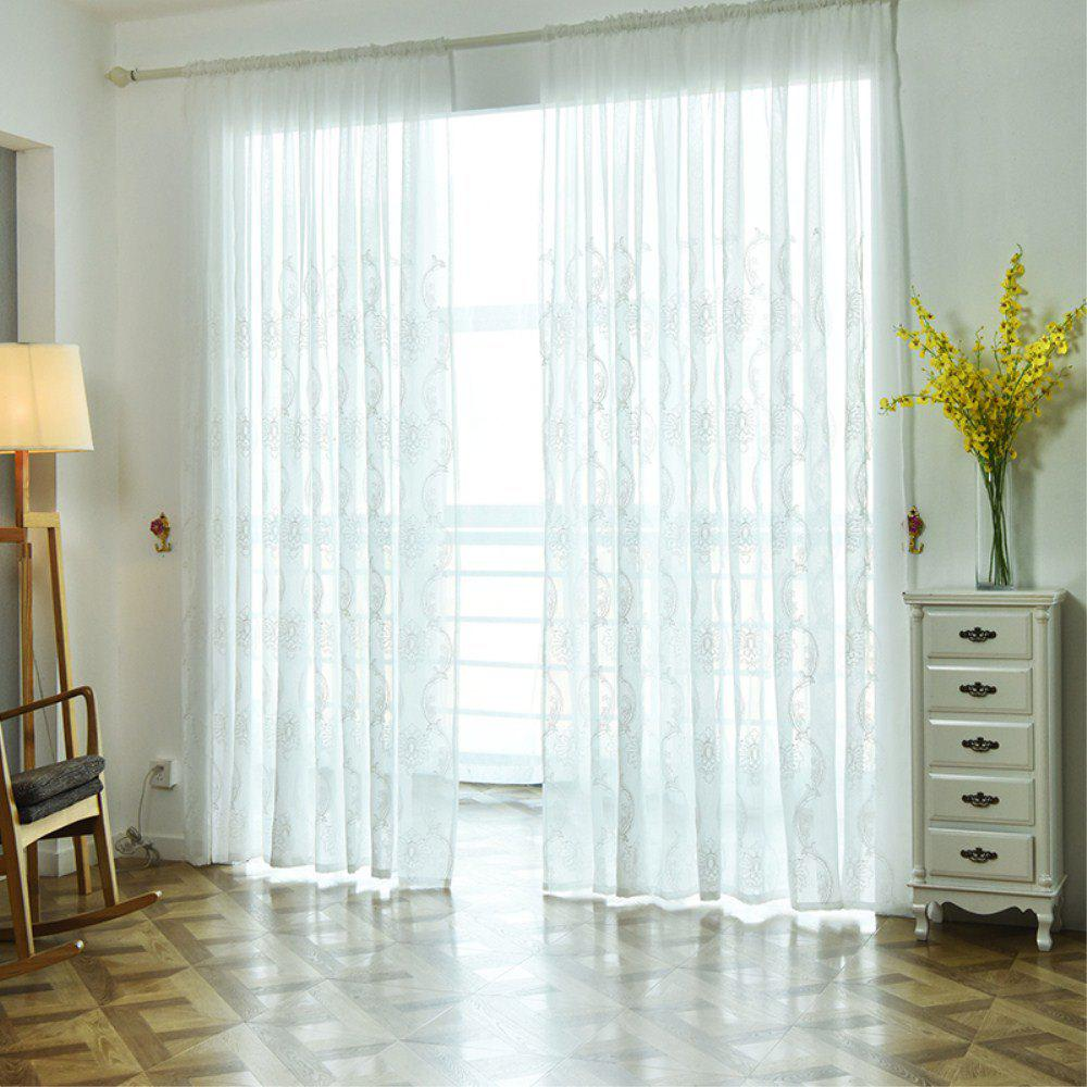 Chic Embroidery Ingot Flowers Thin Section Screens Curtains