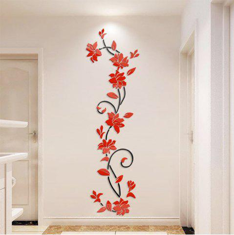 3D Crystal Three Dimensional Rose Flower Acrylic Wall Stickers