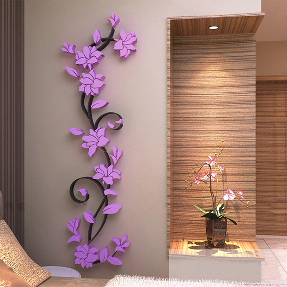 2018 3d Crystal Three Dimensional Rose Flower Acrylic Wall Stickers