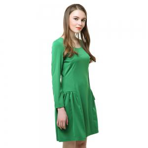 Long Sleeve A Line Fashion Green Dress -