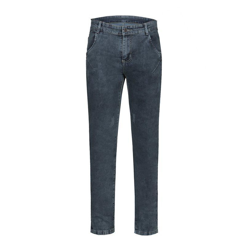 New Men's Summer Micro-Elastic Slim Jeans
