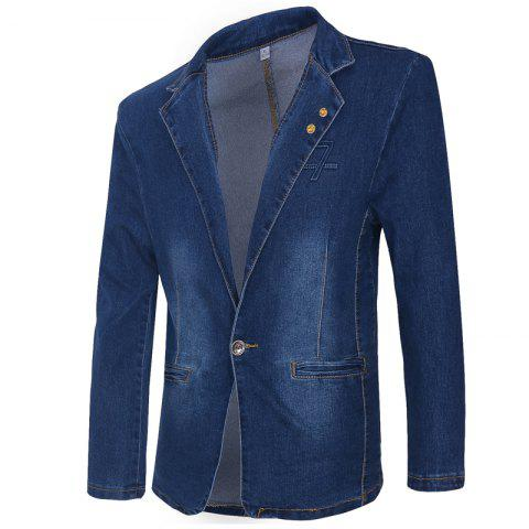 Online Men's Casual Fashion Cowboy Jacket
