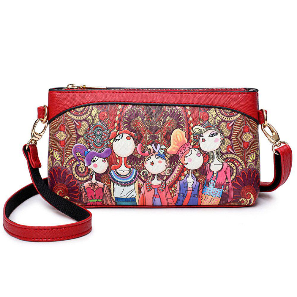 018e53e6c9 Best Brand Women Shoulder Bags High Quality PU Leather Handbags Ladies  Wallet Designer Cartoon Printing Purse