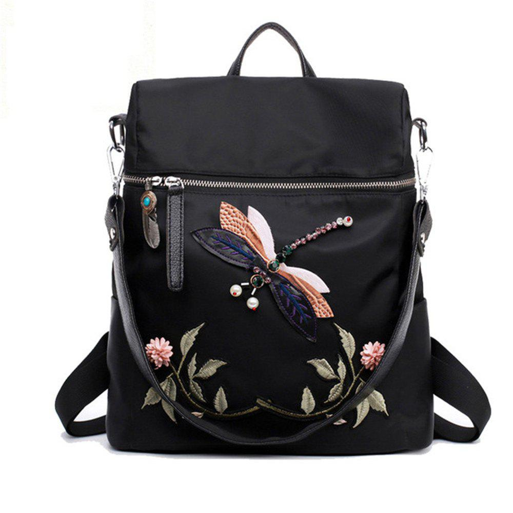 82c1ae8586 Sale Dragonfly Women Backpack 2017 Woman Casual High Quality Backpacks  School Bags For Girls Embroidery Flower