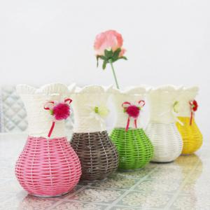 Table Top Decoration Hand-Woven Vase -