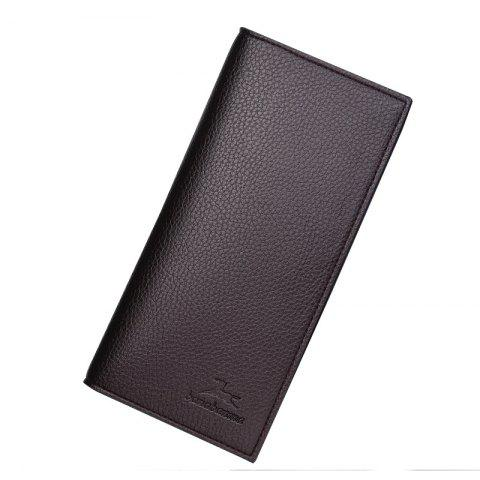 Cheap Long Section of Young Men's Wallet Purse Lid Leather Wallet Purse