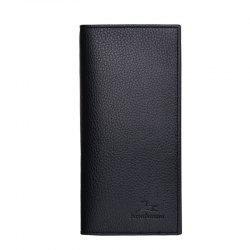 Long Section of Young Men's Wallet Purse Lid Leather Wallet Purse -