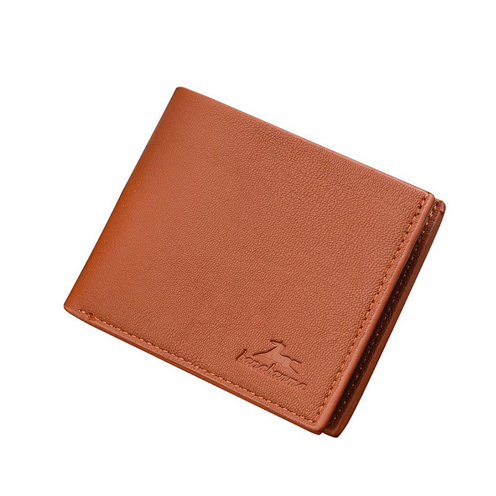 Latest New Business Leather Men's Short Wallet