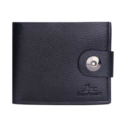 Unique New Men's Wallet Short Korean Button Fashion Casual Classic Purses