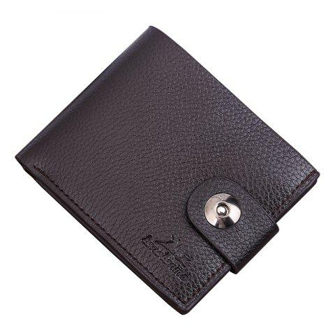 Chic New Men's Wallet Short Korean Button Fashion Casual Classic Purses