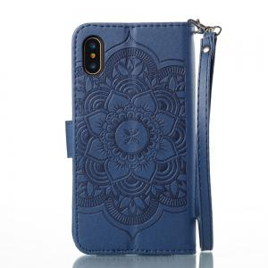 Campanula Flower Phone Case for Iphone X 10 3D Diamond Design Wallet Cover -