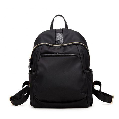 Black Waterproof Nylon With Leather Large Capacity Backpack Purse ...