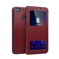 Case for Huawei Honor 9 Lite Geniune Leather Cowhide Dual Window Shell Cover -