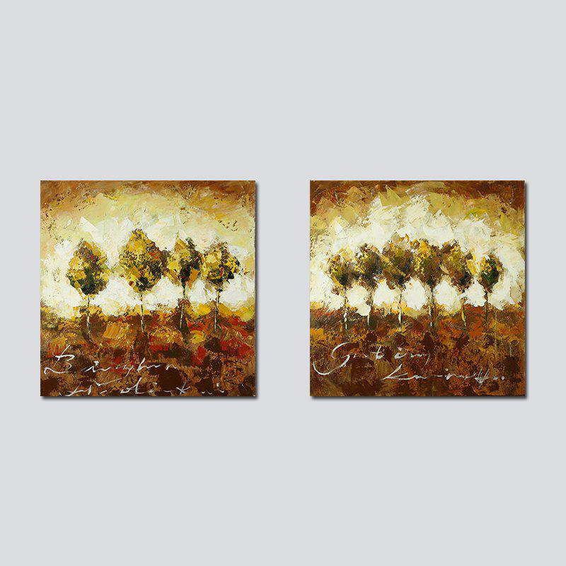 Trendy QiaoJiaHuaYuan No Frame Canvas Living Room Sofa Background two Sets of Picture Bedroom Study Abstract Hanging Picture