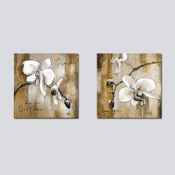 QiaoJiaHuaYuan Frameless Canvas Background two Couplet of Sitting Room Sofa set Abstract Flower  Decoration Hangs a Pict -