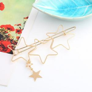 Accessoires pour cheveux Hollow Five-pointed Star Hairpin Hair Clip -