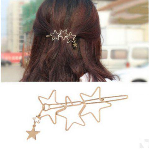 Store Hair Accessories Hollow Five-pointed Star Hairpin Hair Clip