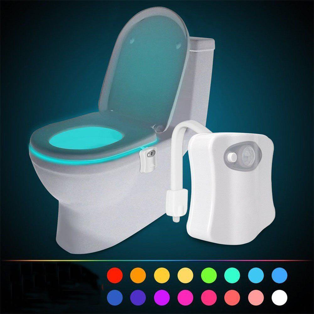 Outfits 16 Color LED Motion Sensing Automatic Bathroom Toilet Night Motion Activated Lamp