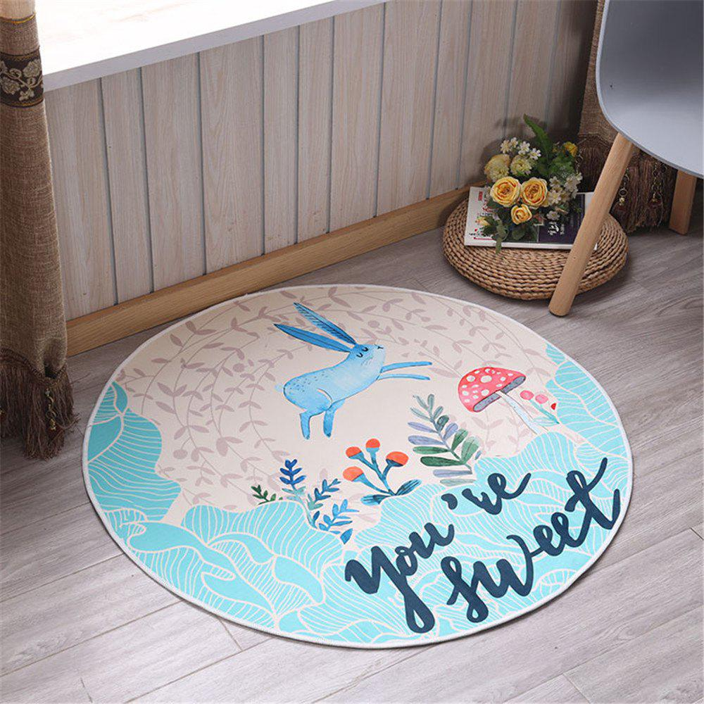 Unique 60cm Carpet Round Kids Gym Rug Play Game Mat Baby Crawling Blanket Outdoor Pad Room Decor