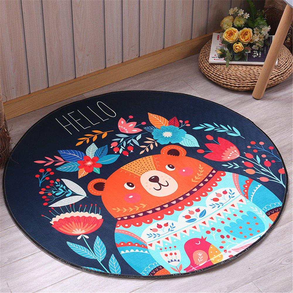 Fancy 60cm Carpet Round Kids Gym Rug Play Game Mat Baby Crawling Blanket Outdoor Pad Room Decor