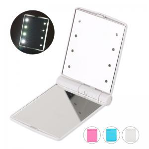 Portable Fantastic LED Lights Folding Cosmetic Mirror Hot Selling Compact Pocket Makeup Looking Glass -