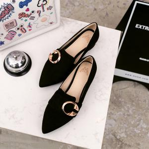 Thick and Shallow Pointed Shoes -