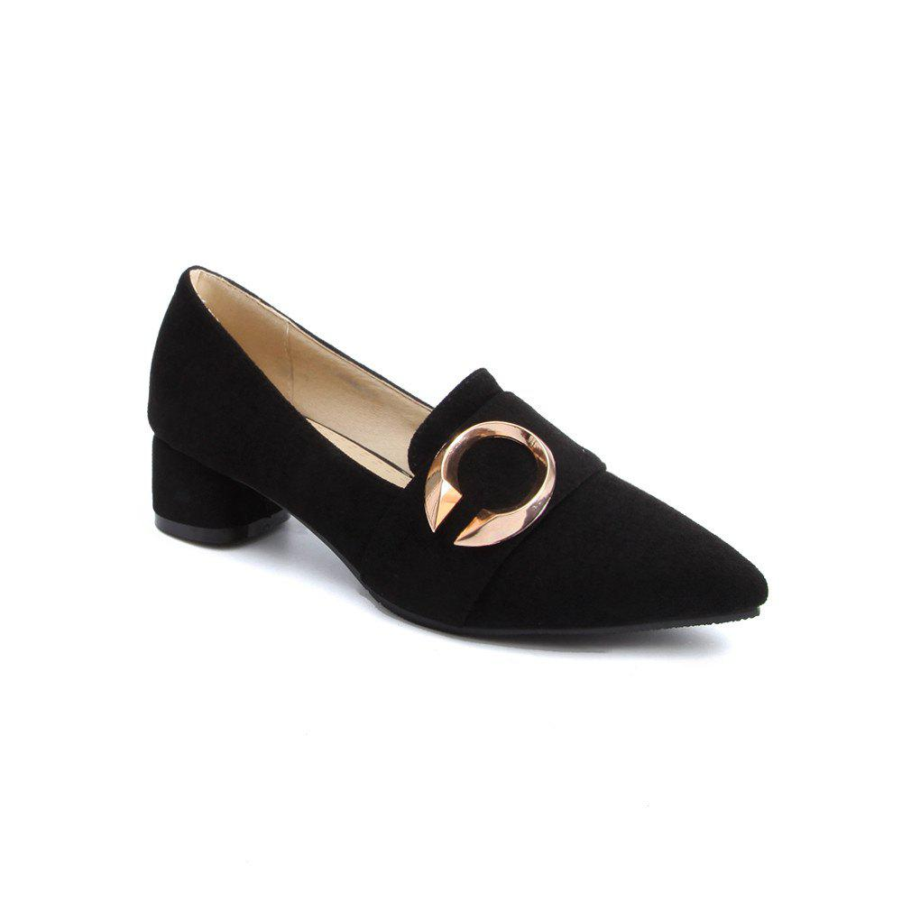 Fancy Thick and Shallow Pointed Shoes