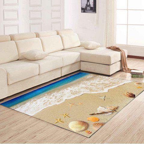 Unique Living Room Floor Mat Delicate Vivid Sea Style Shell Pattern Antiskid Bedside Mat