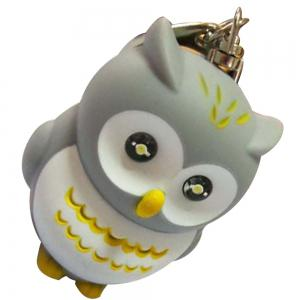 Sangle de porte-clés hibou incandescent -