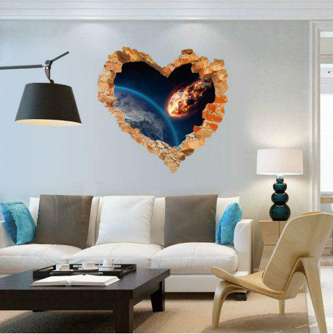 Trendy Love Heart Broken Wall Outer Space Wall Stickers Decals Art Living  Room Bedroom Home Decor