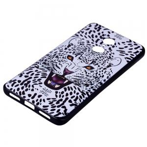 Case For Xiaomi Redmi NOTE4X White Leopard Design Soft TPU Hand Case -