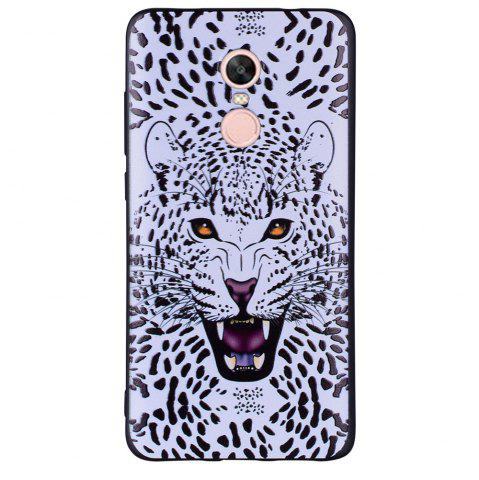 Affordable Case For Xiaomi Redmi NOTE4X White Leopard Design Soft TPU Hand Case