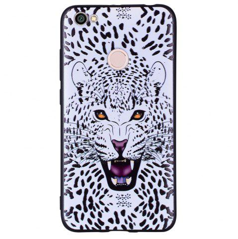 Sale Case For Xiaomi Redmi NOTE5A White Leopard Design Soft TPU Hand Case