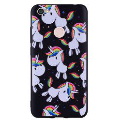 Case For Xiaomi Redmi NOTE5A Rainbow Unicorn Design Soft TPU Mobile Phone Case -