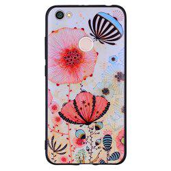 Case For Xiaomi Redmi NOTE5A Pink Flower Design Soft TPU Mobile Phone Case -
