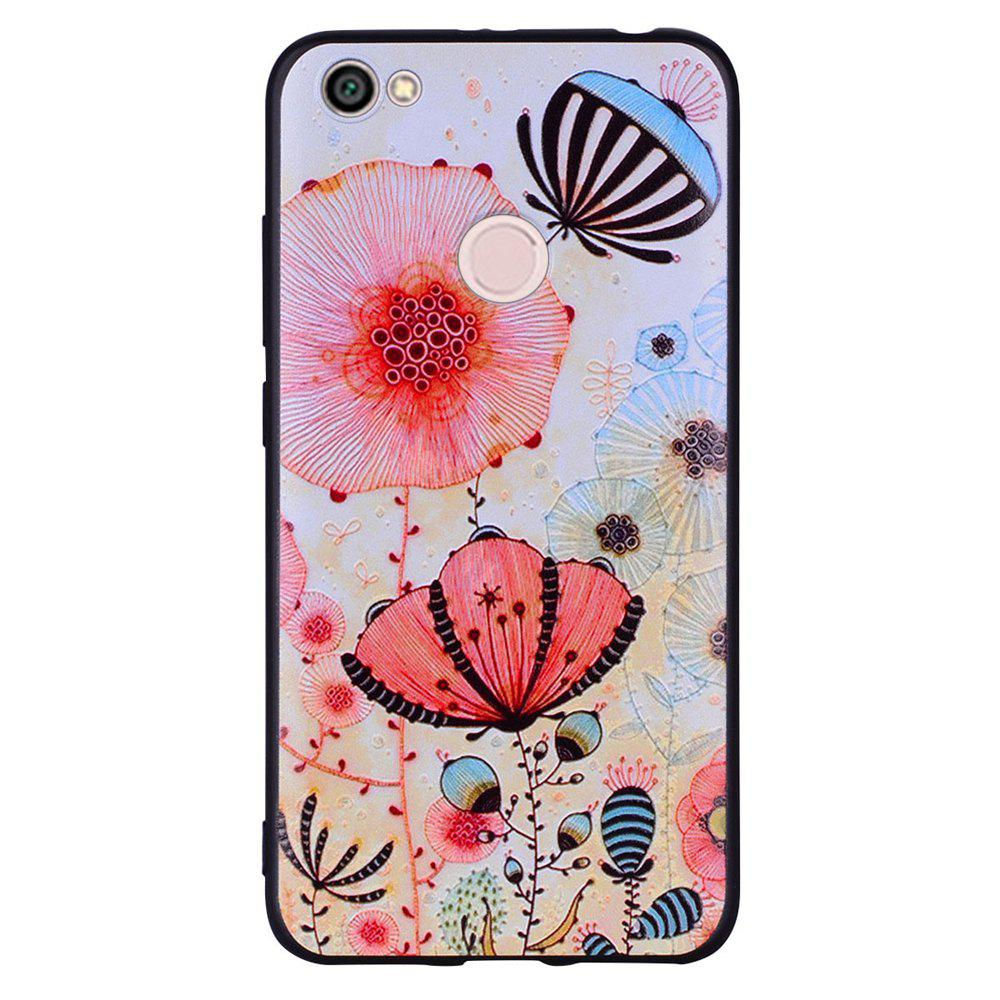 Chic Case For Xiaomi Redmi NOTE5A Pink Flower Design Soft TPU Mobile Phone Case