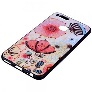 Phone Case For Xiaomi 5X  Pink Flower Design Soft TPU Hand Case -