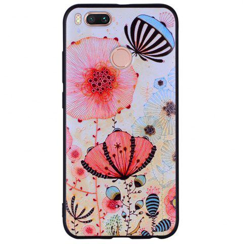 Affordable Phone Case For Xiaomi 5X  Pink Flower Design Soft TPU Hand Case